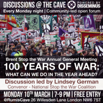 0025 STOP THE WAR AGM 100 YEARS